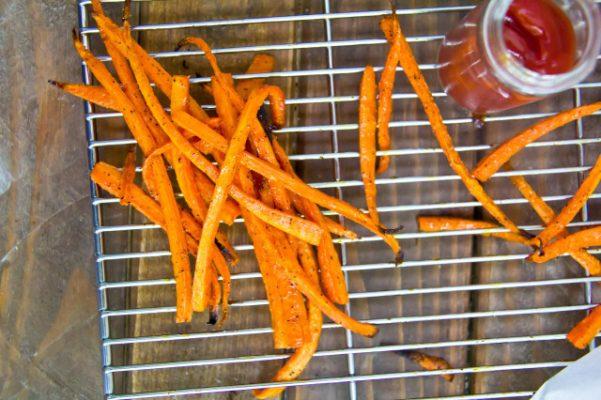 papas fritas de zanahoria asadas
