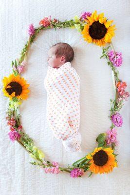 anuncio bebe flores