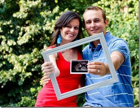 anuncio embarazo marco foto