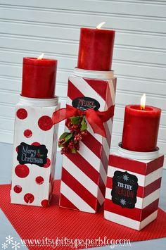 navidad velas encintadas