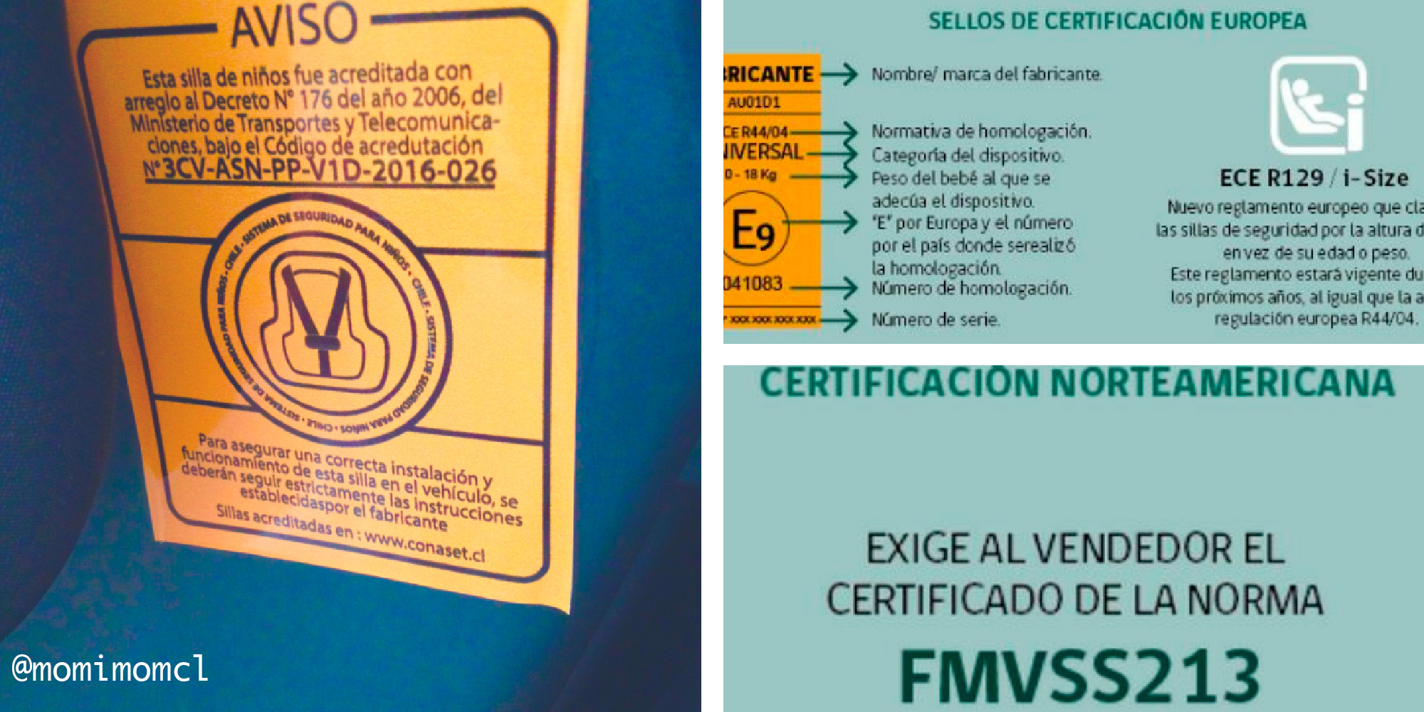 C mo saber si la silla de auto cumple con la acreditaci n en Chile