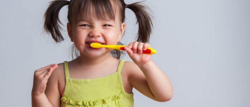 lavado de dientes infantil