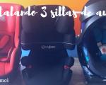 instalar 3 sillas de auto
